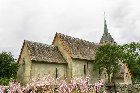 Ullenssvang church located in Lofthus, Norway