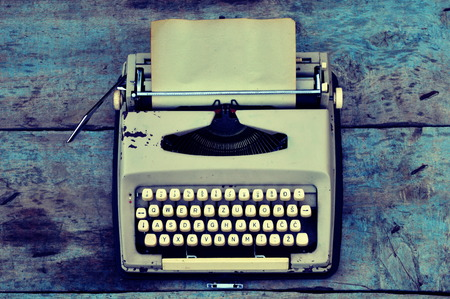 typewriter key: Retro typewriter background