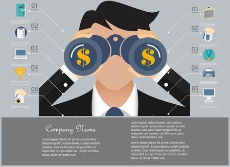 Zakelijke infographic elementen Stock Illustratie