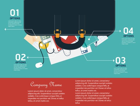 book concept: Business infographic elements