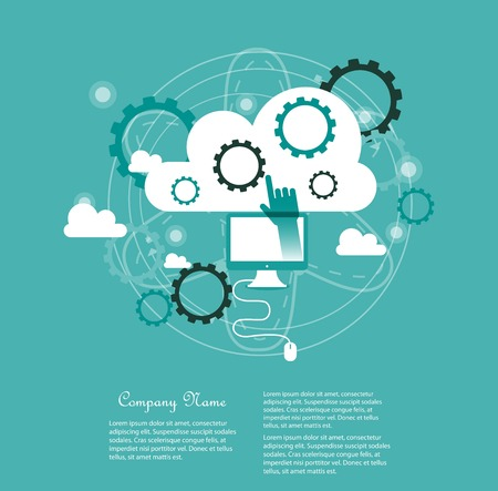 average: Cloud computing concept Illustration
