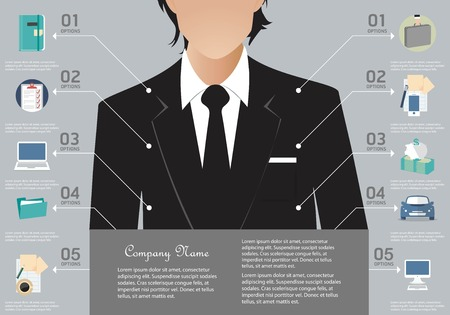 entrepreneur: Business infographic elements