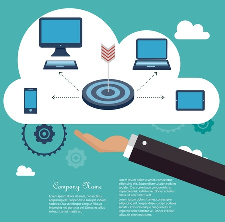 synchronizing: Cloud computing concept Illustration