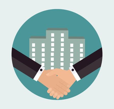 emprendimiento: Concepto de negocio �xito Vectores