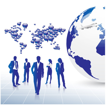 conversing: Business concept design Illustration