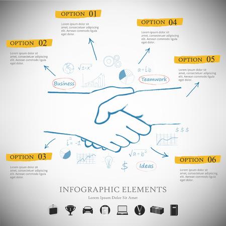 symbol hand: Infografik Vector Berichtsvorlage