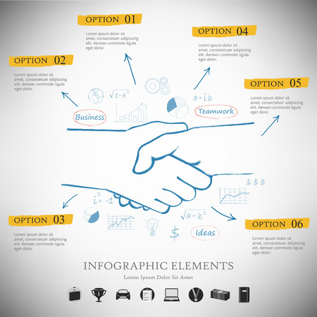 help: Vector infographic report template