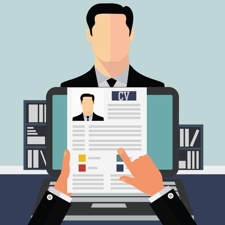 interview job: Concepto de trabajo Vectores