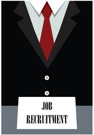 Job recruitment-concept Stock Illustratie