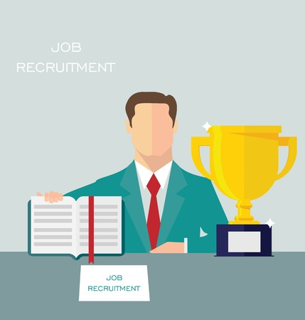 job recruitment: Job recruitment concept
