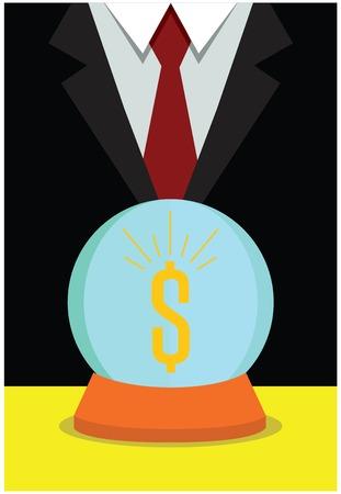 Business vision, money concept Illustration