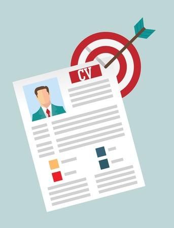 Job candidate selection process Illustration