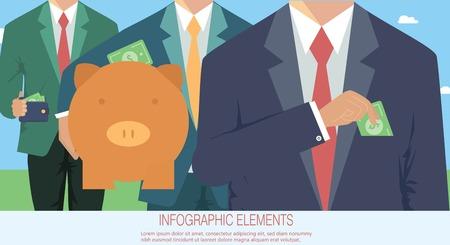 Money concept, business corruption