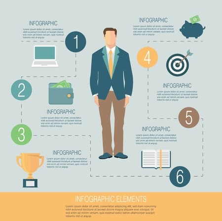 leadership: Business infographic template
