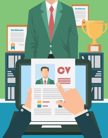 job interview: Job interview concept