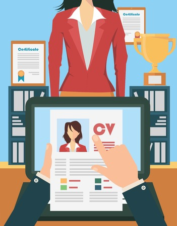 Job interview concept Stock Vector - 38654785