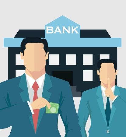 salary man: Money concept, business corruption