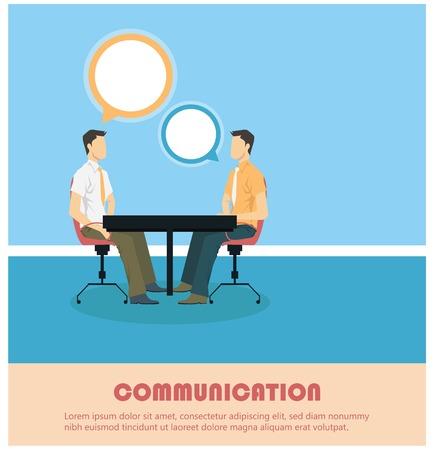 Creatief gesprek concept weergegeven