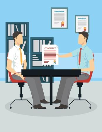 Sollicitatiegesprek-concept Stock Illustratie