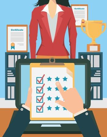 Evaluación de candidatos de empleo