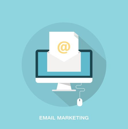Email marketing and promotion concept