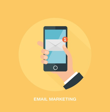 Email marketing and promotion concept Vector
