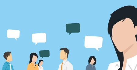 Group of business people communicating