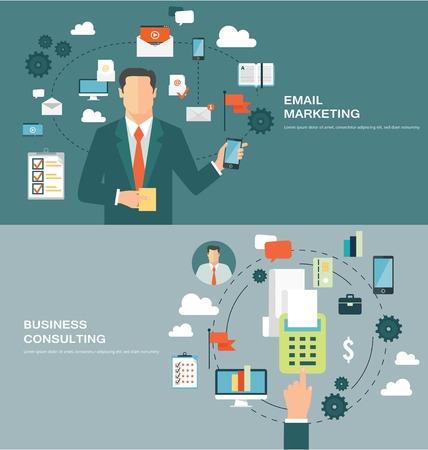 correo electronico: Conceptos para web banners y promociones. Conceptos de dise�o Piso en email marketing y consultor�a de negocios