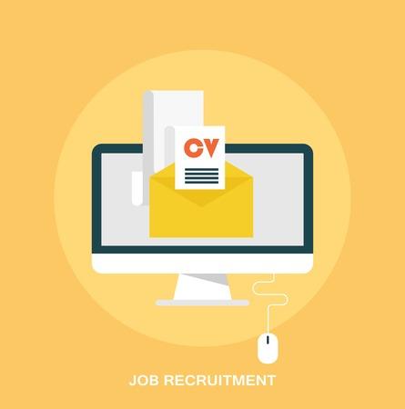 Job recruitment emailing job resume concept flat styled icon