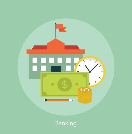 dollaro: Ora � il concetto di denaro finanziario Vettoriali