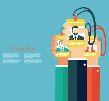 human resource: Leadership in business concept Illustration