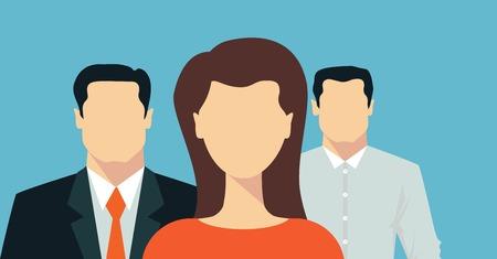 Business team presentation Illustration