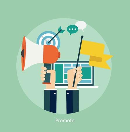 correo electronico: Concepto para la web banners y promociones. Concepto de dise�o Piso en marketing digital y promoci�n