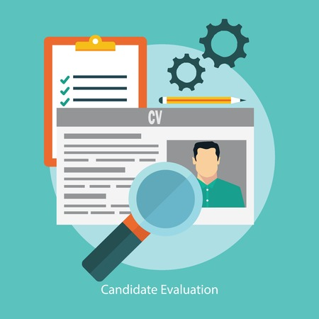 job recruitment: Job candidate selection concept with business cv resume