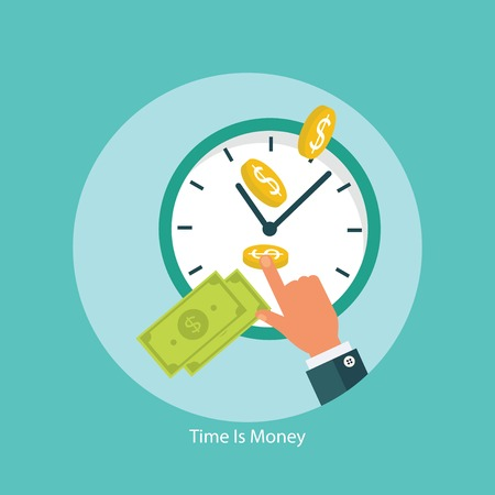 money time: Time is money financial concept
