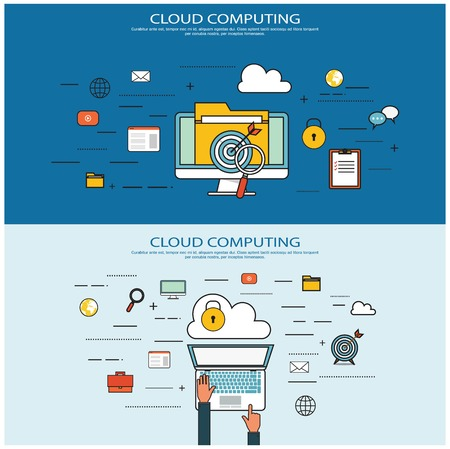 computing: Cloud computing concept Illustration