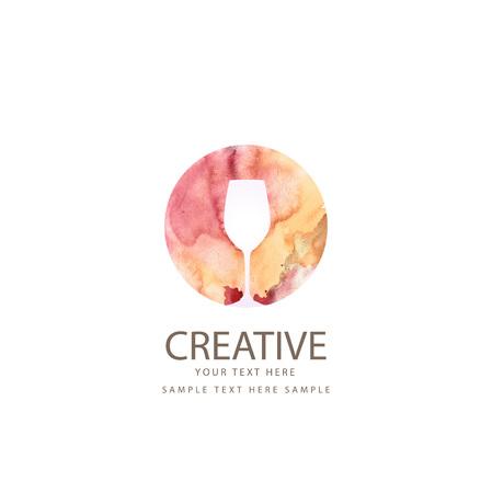 Creative wine glass design  イラスト・ベクター素材