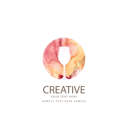 Creative wine glass design Illustration