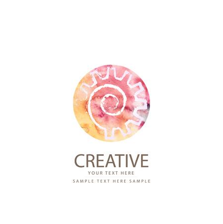 cake factory: Creative symbol gear Illustration