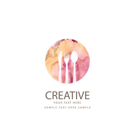 フォーク、スプーン、ナイフを持つ創造的なレストラン デザイン