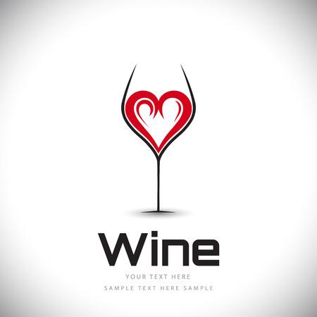 Disegno di vetro di vino creativo
