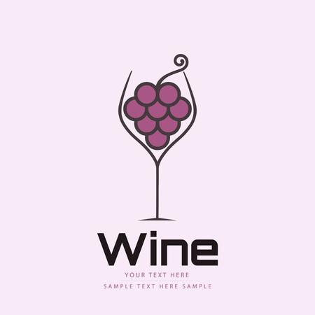 wine glass: Creative wine glass design Illustration