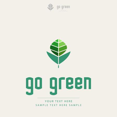 environment friendly: Creative ecology design Illustration