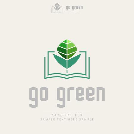health education: Creative ecology design Illustration