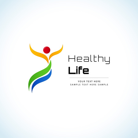 nutrition health: Healthy lifestyle concept Illustration