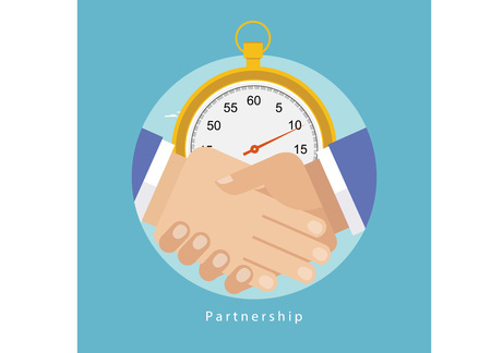 prioritizing: Successful business partnership concept