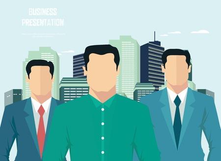 business team: Business team presentation Illustration