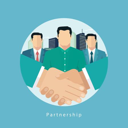 business partner: Successful business partnership concept