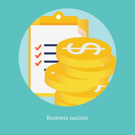 success concept: Success in business concept, illustration