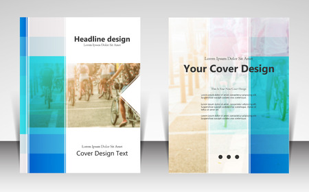 book cover design: illustration for website page layout template design, business brochure, leaflet cover presentation, booklet, report, corporate newsletter and ad, marketing and online advertising concept Illustration